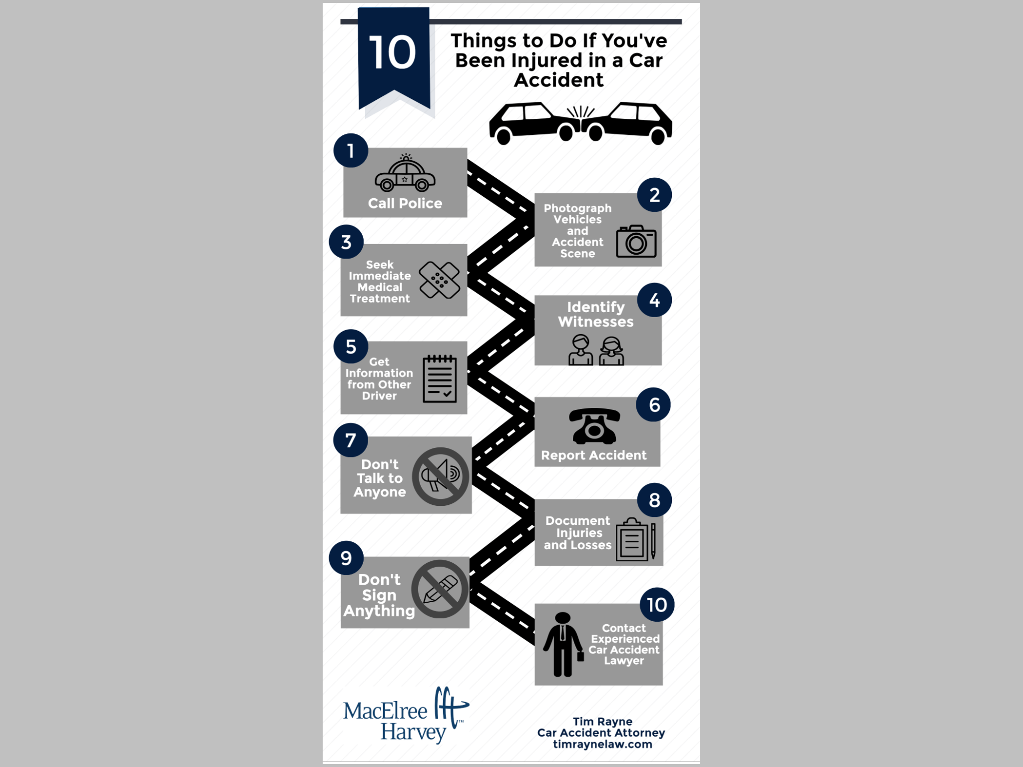 10 Steps to follow after being injured in a Pennsylvania car accident